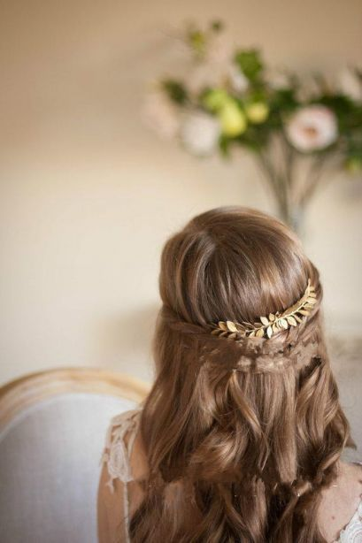 Hairpiece hair p 8033 gold 3 hiasan_rambut